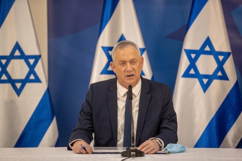 以色列國防部長甘茨宣布,對巴勒斯坦實施燃料制裁,停止往加薩走廊的燃料運輸。(歐新社資料照)