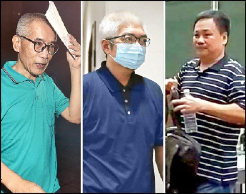 曾任立委助理的李易諴(左起)、陳惟仁及林雍達,涉嫌被中國國家安全部吸收,在台發展共諜組織,昨被起訴。(記者廖振輝攝、資料照)