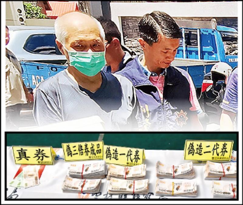 蘇嫌(左)偽造三倍券,準備進化到第3代偽券。(記者黃淑莉攝、資料照)