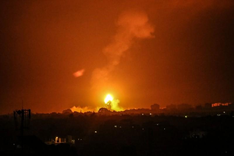 加薩走廊衝突升溫,以色列連日空襲巴勒斯坦。(法新社)