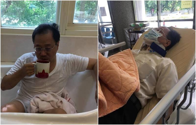 李來希稱昨日勞動完後突然暈眩撞到後腦勺送醫。(圖擷自李來希臉書)