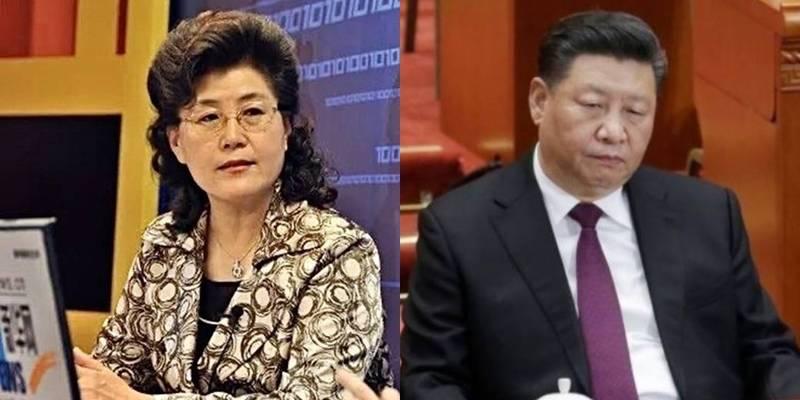 蔡霞(左)被爆料抨擊習近平(右)蠢到極點,蔡今遭中共開除黨籍。(左圖取自微博,右圖路透檔案照)