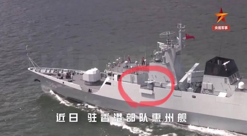 張競指出,砲位所在01甲板舷側擋浪板,在射擊時會因妨礙射界放下,這個十分合理;但在返港時卻未收回歸置定位,就顯然是項疏失。(圖取自張競臉書)