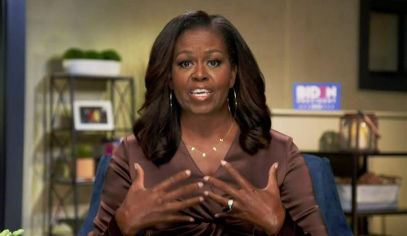 蜜雪兒歐巴馬呼籲民眾將票投給拜登。(路透)