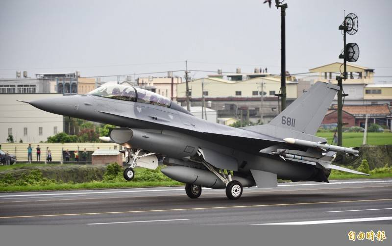 圖為F-16V型戰機。(資料照)