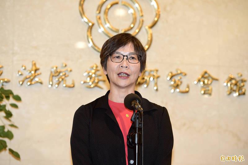民眾黨立委蔡壁如今(18)日下午接受媒體訪問。(記者叢昌瑾攝)