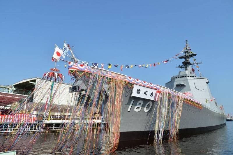 圖為日本「羽黑號」神盾護衛艦。(照片取自日本海上自衛隊)