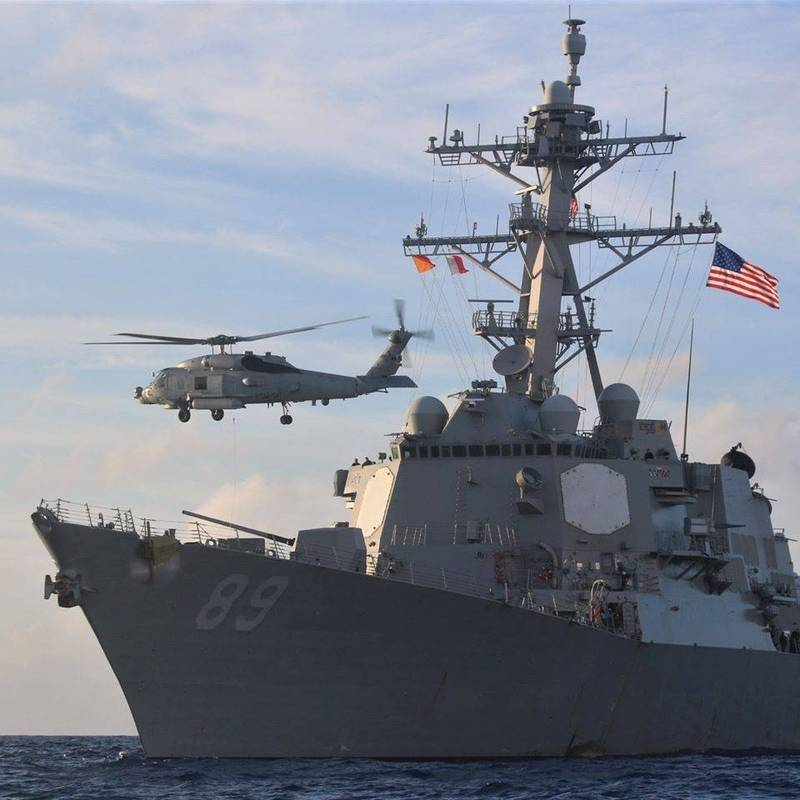 美軍驅逐艦馬斯廷號(圖)穿越台海之際,中國央視發社論嗆「首戰即終戰」。(擷取自馬斯廷號臉書)