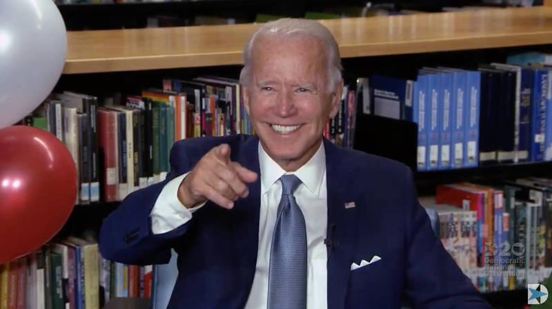 拜登正式獲得民主黨提名參選美國總統。(法新社)