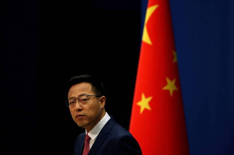 中國外交部發言人趙立堅(見圖)今日聲稱,中美關係惡化是由於「美國單方面挑起爭端」,蓄意煽動反華情緒,呼籲籲美方屏棄過時的冷戰思維。(路透資料照)