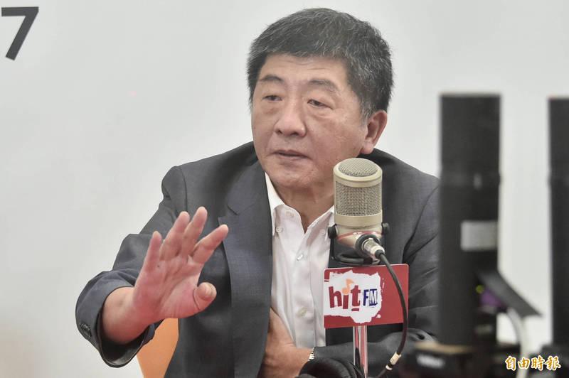 衛福部長陳時中今20日接受周玉蔻專訪。(記者塗建榮攝)
