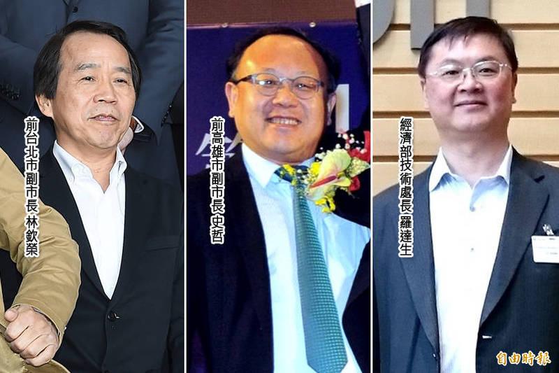 準高雄市長陳其邁的內閣團隊,今傳出3位副市長人選已底定,分別為前高市副市長史哲、前台北市副市長林欽榮、經濟部技術處長羅達生。(本報合成)