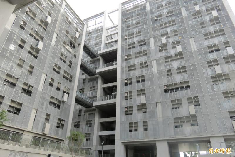 太平育賢住宅第一期10月就可入住。(記者蘇金鳳攝)