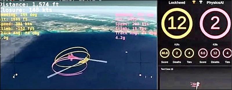 人類與AI的模擬空戰。(取自網路)
