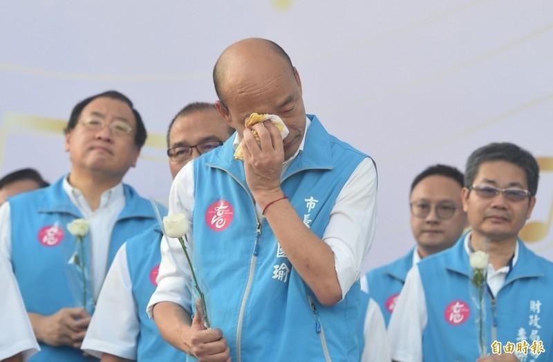 前高雄市長韓國瑜被高雄市民罷免成功,成為六都市長被罷免的首例。(資料照)