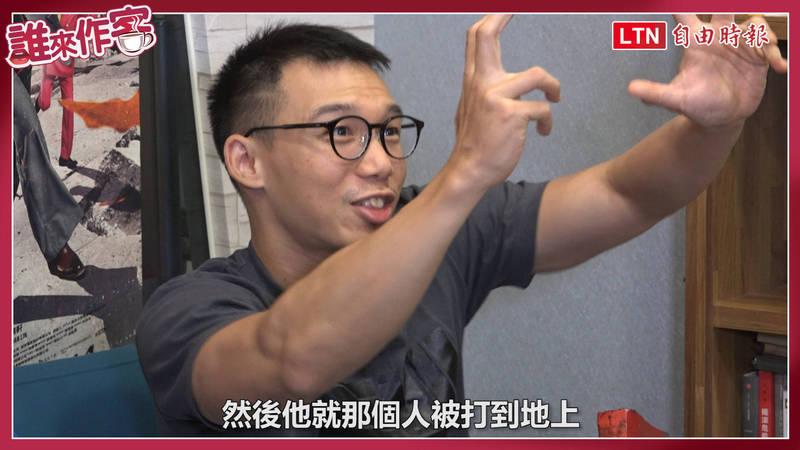 王逸帆說明當初選擇立法院做為電影題材的原因。(影音製圖)