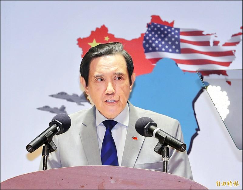 陸委會指出,前總統馬英九所謂「九二共識才能避戰」,是對中共專制政權抱持幻想、對台海情勢不負責任的說法。(記者方賓照攝)