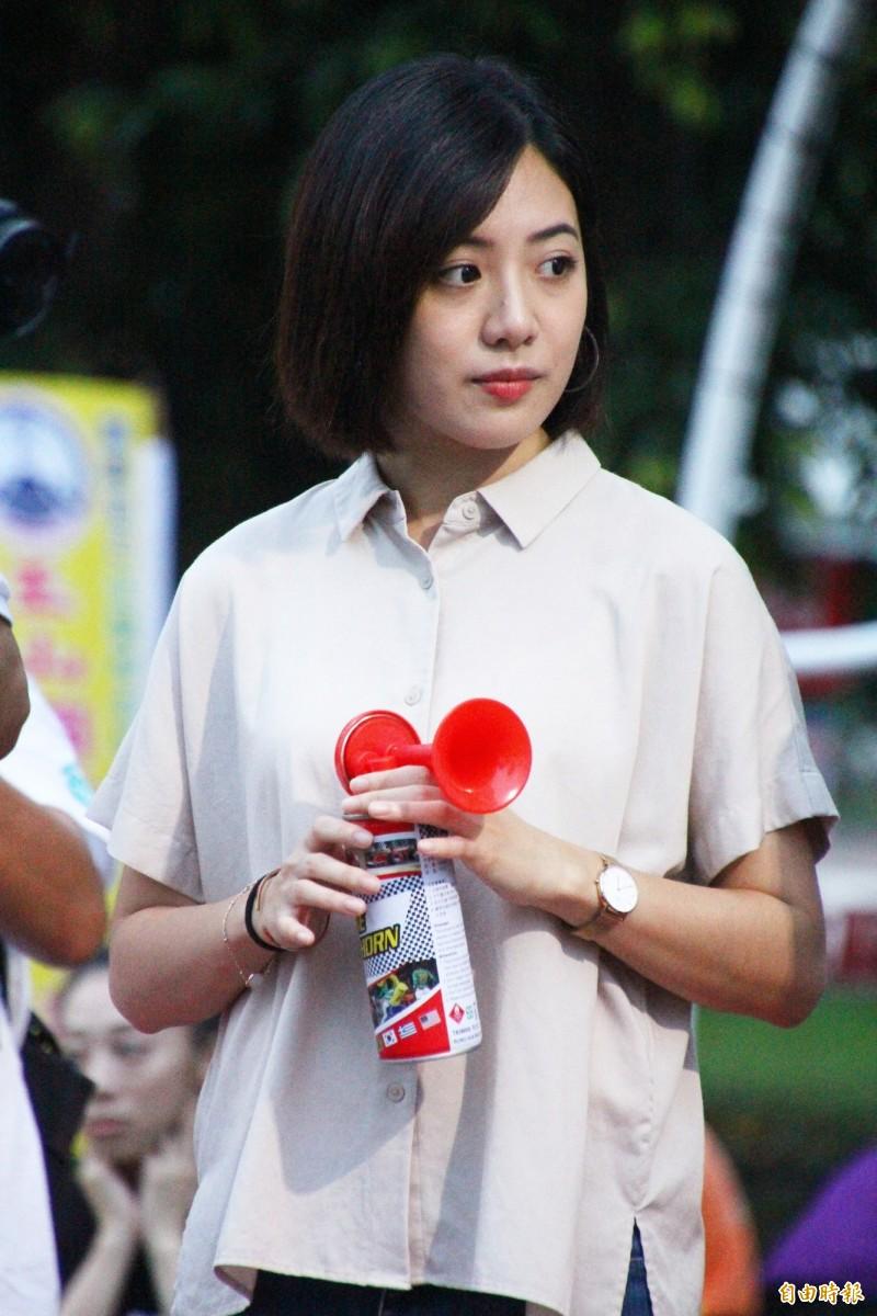 「學姐」黃瀞瑩代言2020嘉義國際超半程啤酒馬拉松。(記者林宜樟攝)