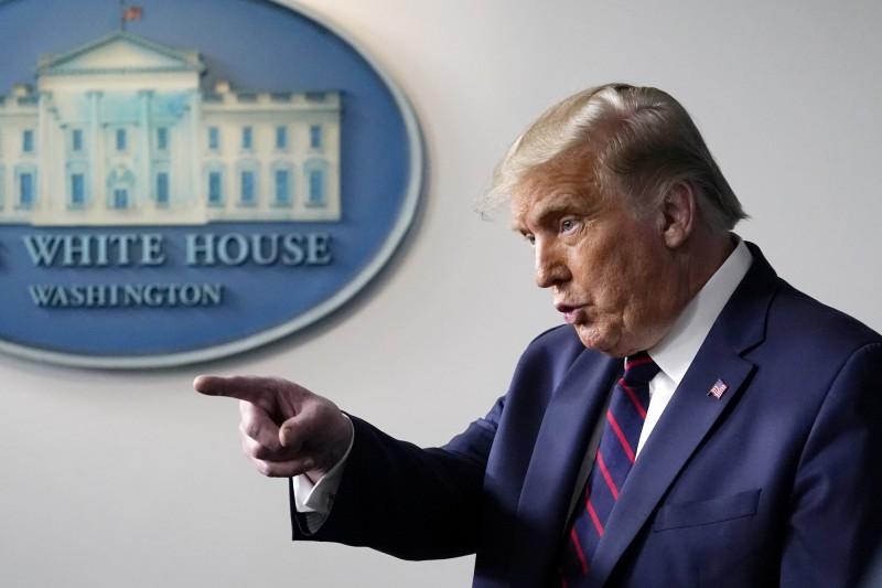 美國共和黨將在27日正式提名川普爭取連任總統。(美聯社)