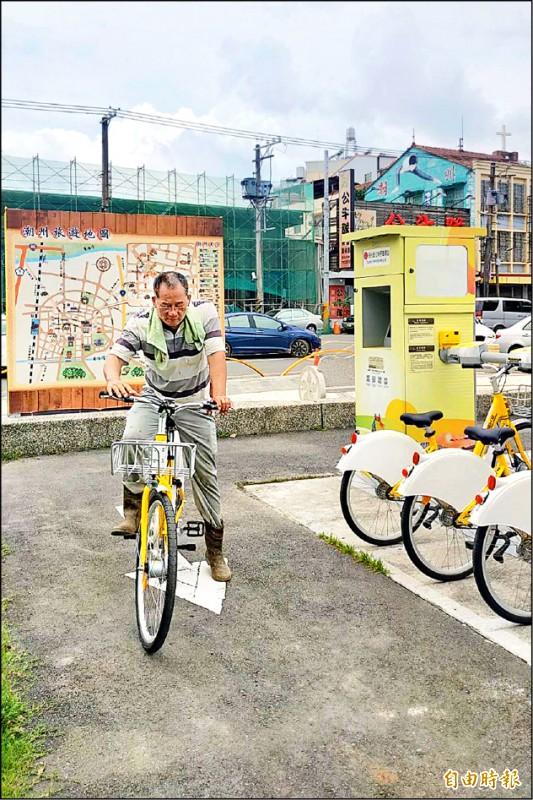 潮州鎮Pbike試營運3天累計有248人次。(記者邱芷柔攝)