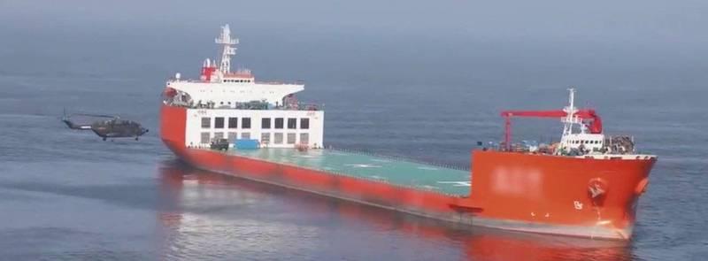 中國解放軍19日釋出黃海海域軍演影片。(圖取自中國央視)