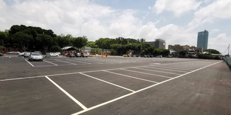 中興新城停車場完工啟用,疏解台南火車站周邊停車問題。(記者洪瑞琴翻攝)