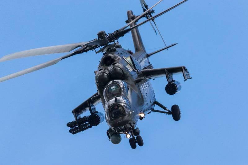 俄國改良版Mi-35P攻擊直升機在經歷測試後,已確定最終設計,進入量產階段,圖為Mi-35M攻擊直升機。(擷取自Russian Helicopters官網)