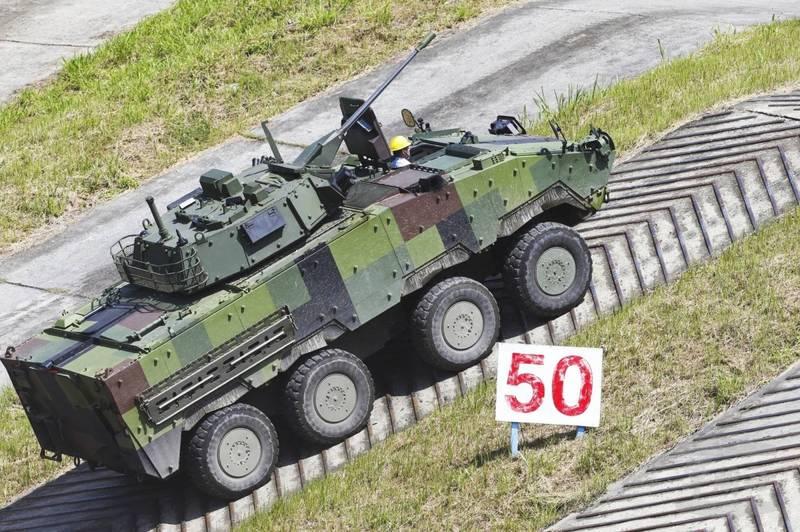 CM34雲豹甲車。(資料照,軍聞社)