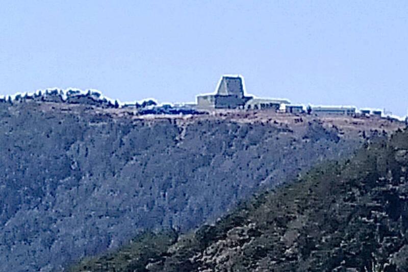 圖為位於新竹樂山的長程預警雷達。(山友提供)