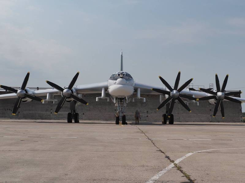 The Tu-95MSM bomber successfully flew for the first time after completing the upgrade.  (The picture is taken from UAC Twitter)