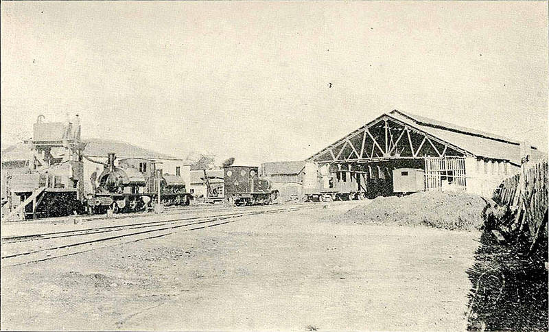 Completed in 1891, Taipei 'Railway Wharf' is considered the first-generation Taipei Train Station.  Photo courtesy of Wikimedia Commons