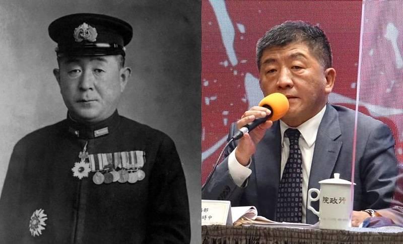 衛生福利部長陳時中撞臉日本帝國海軍將領山口多聞。(圖左取自維基百科,圖右本報資料照,本報合成)
