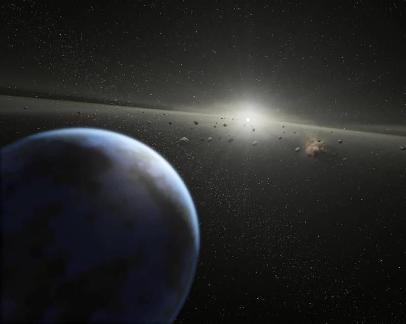 太陽系中有許多「近地小行星」,9月2日將有1顆「2011 ES4」與地球近距離擦肩而過。(法新社檔案照)