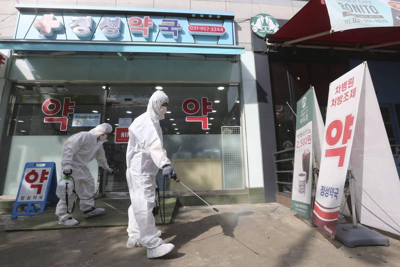 南韓昨日新增299例武漢肺炎確診病例,另有兩例死亡。(美聯社)