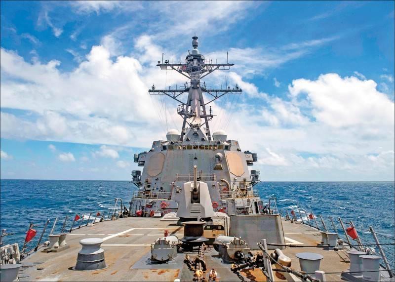 美國海軍「馬斯廷號」飛彈驅逐艦27日前往西沙群島海域自由航行。圖為美軍太平洋艦隊伯克級驅逐艦馬斯廷號(USS Mustin)。(圖取自美軍太平洋司令部官網)