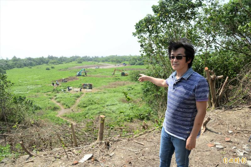 導演魏德聖將在高雄南星計畫區打造《台灣三部曲》中「麻豆社」部落場景,今舉辦動工儀式。(記者許麗娟攝)