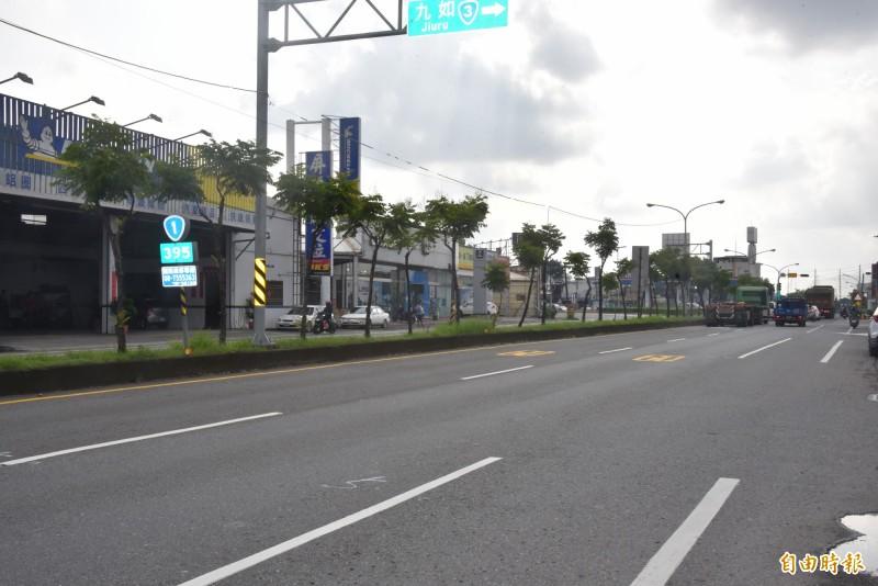 台1線屏東和生路段3日起開始施工,駕駛人行經要多加注意。(記者葉永騫攝)