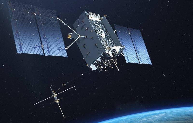 美國軍火商洛克希德·馬丁公司將為美方打造10顆衛星,建立安全網絡,圖為洛克希德·馬丁公司GPS III衛星。(擷取自洛克希德·馬丁公司官網)