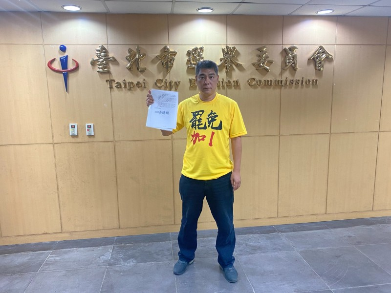 社子島福安里里長謝文加罷免案提案人陳先生。(圖:陳先生提供)