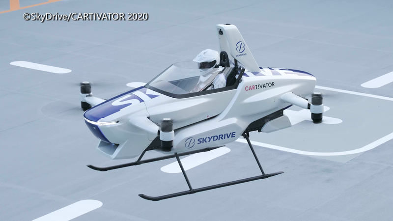 「SkyDrive」日前展現飛行汽車試飛狀況。(圖片由©SkyDrive/CARTIVATOR 2020 授權提供使用)