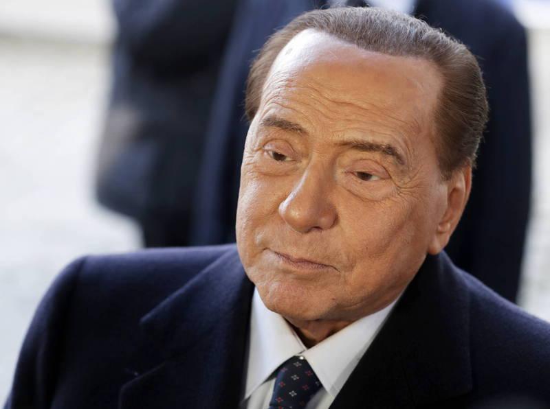 義大利前總理貝魯斯孔尼(Silvio Berlusconi)確診武漢肺炎。(歐新社資料照)