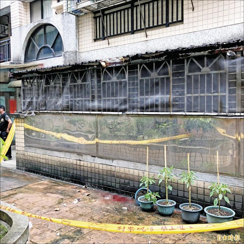 國中少年從7樓墜落,送醫不治。(記者林嘉東攝)