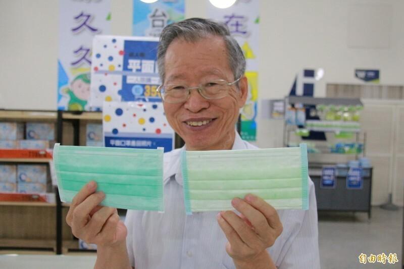 華新醫材董事長鄭永柱表示,加入國家隊覺得是一種使命感,為台灣全力生產每片優良口罩,員工們也都感到很光榮。(資料照)