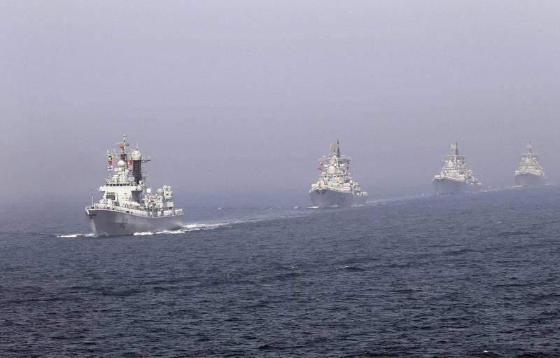 中國海事局今(4日)宣布,渤海海峡、黄海北部將執行軍事任務,禁止無關船隻駛入。中國軍艦黃海航行示意圖。(路透)