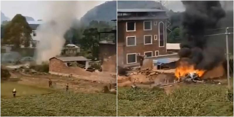網傳台灣軍方擊落共機,我國空軍證實並非事實。(圖取自推特影片)
