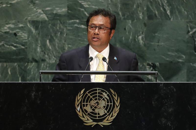 帛琉總統雷蒙傑索致信美國國防部長艾斯培,邀請美軍在帛琉興建軍事基地。(路透資料照)