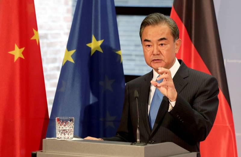 學者指出,王毅此行反而讓更多歐洲人將中國視為競爭對手。(路透)