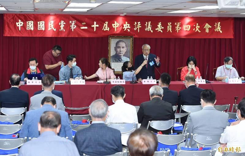 國民黨今日開中央評議委員會議。(記者廖振輝攝)