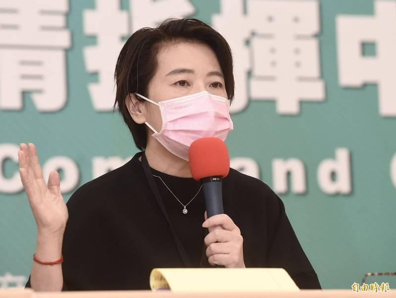 台北市副市長黃珊珊7日宣布最新防疫措施,自22日起居家檢疫或居家隔離地點僅能在市府核准之防疫旅館,日租套房收居家檢疫者將開罰。(記者簡榮豐攝)