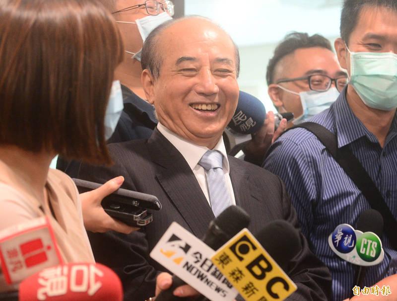 國民黨證實將派前立法院長王金平(見圖)率團參加海峽論壇,王金平8日接受媒體聯訪。(記者王藝菘攝)